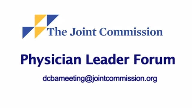 Physician leader forum