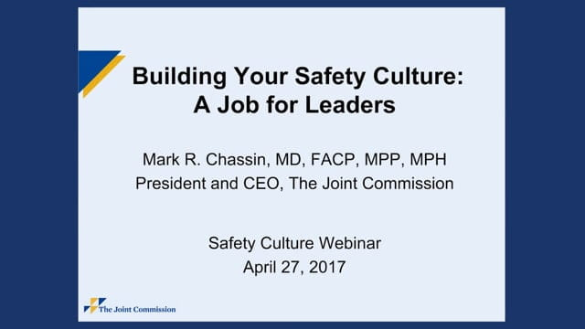 President and CEO discusses safety cultures
