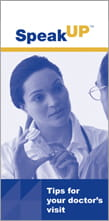 Tips for Your Doctor's Visit brochure
