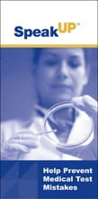 Help Prevent Medical Test Mistakes brochure