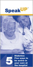 Diabetes - Five Ways to be Active in Your Care at the Hospital brochure