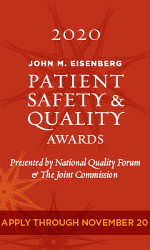 2020 John M. Eisenberg Patient Safety & Quality Awards