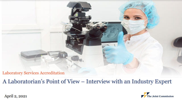 A Laboratorian's Point of View – Interview with an Industry Expert
