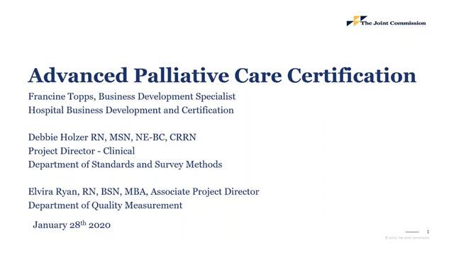 Advanced Palliative Care Certification