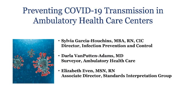 Preventing COVID-19 Transmission in Ambulatory Health Care Centers