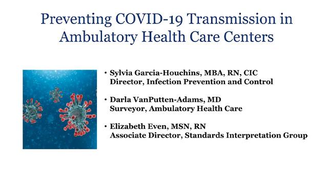 Preventing COVID-19 Transmission in Ambulatory Health Care Centers