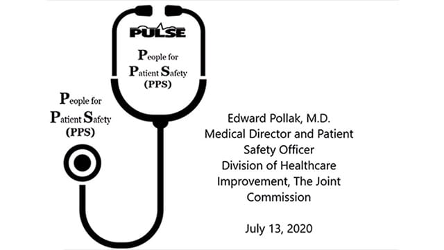 Talking a bout step # 4 with Ed Pollak on people for patient safety.