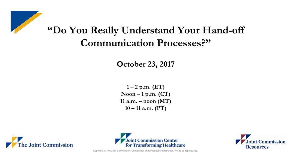 Understanding your hand-off communications