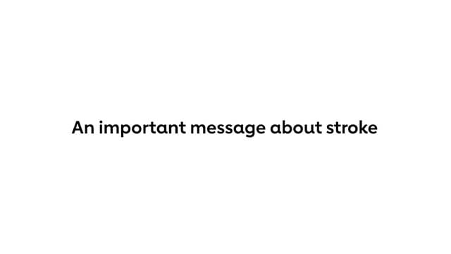 Important message on stroke
