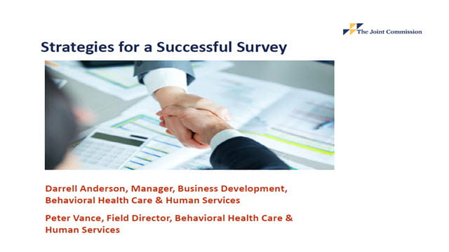 Strategies for a Successful Initial Behavioral Health Survey